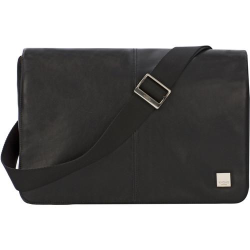 "KNOMO USA Kinsale Slim Cross-Body Messenger Bag for 13"" Laptop (Black)"