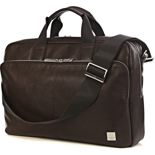 "KNOMO USA 15"" Amesbury Leather Laptop Briefcase (Brown)"