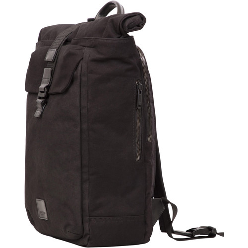 "KNOMO USA 15"" Novello Roll-Top Laptop Backpack (Black)"