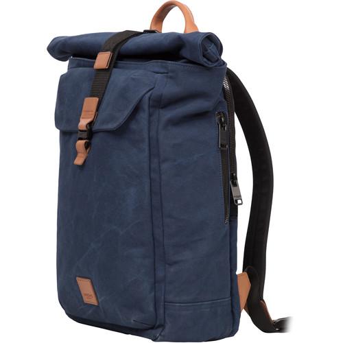 "KNOMO USA 15"" Novello Roll-Top Laptop Backpack (Navy)"