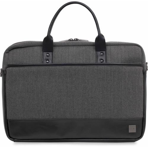 """KNOMO USA 15.6"""" Princeton Laptop Briefcase (Grey)"""