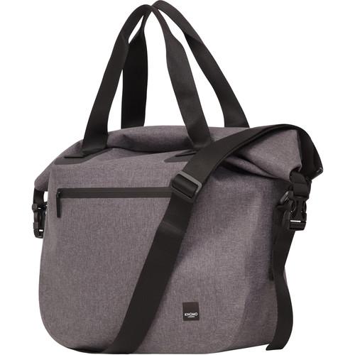 "KNOMO USA 14"" Hampton Water-Resistant Roll Top Laptop Bag (Grey)"