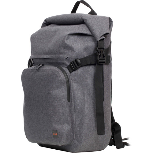 "KNOMO USA 14"" Hamilton Water-Resistant Roll Top Laptop Backpack (Grey)"