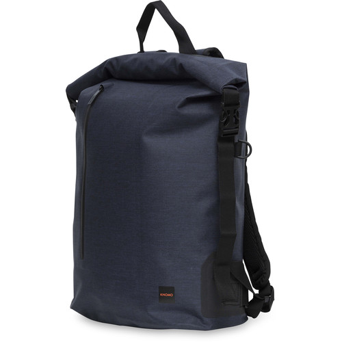 """KNOMO USA 14"""" Cromwell Water-Resistant Roll Top Laptop Backpack (Blue)"""