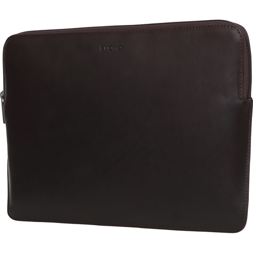 "KNOMO USA 13"" Leather Laptop Sleeve-Macbook Pro/Macbook Air (Brown)"
