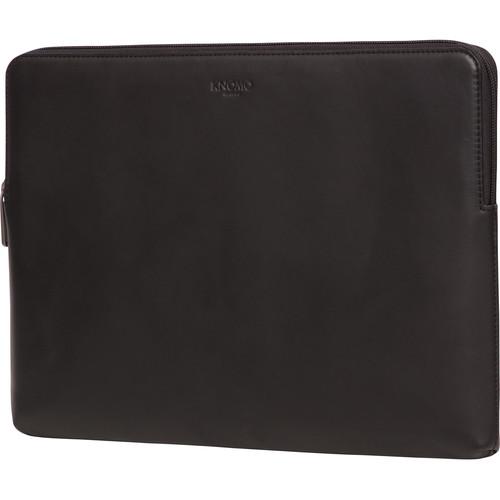 "KNOMO USA 15"" Leather Laptop Sleeve-Macbook Pro Retina (Black)"