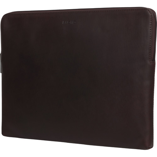 "KNOMO USA 15"" Leather Laptop Sleeve (Brown)"