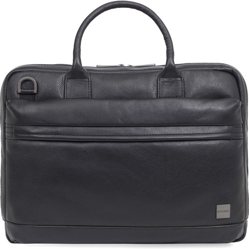 "KNOMO USA 14"" Foster Leather Laptop Briefcase (Black)"
