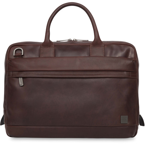 """KNOMO USA 14"""" Foster Leather Laptop Briefcase (Brown)"""