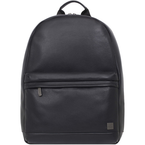 "KNOMO USA Albion Leather Backpack for 15"" Laptop (Black)"