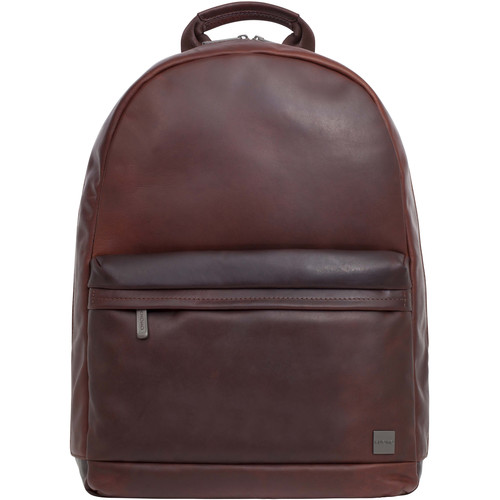 """KNOMO USA Albion Leather Backpack for 15"""" Laptop (Brown)"""