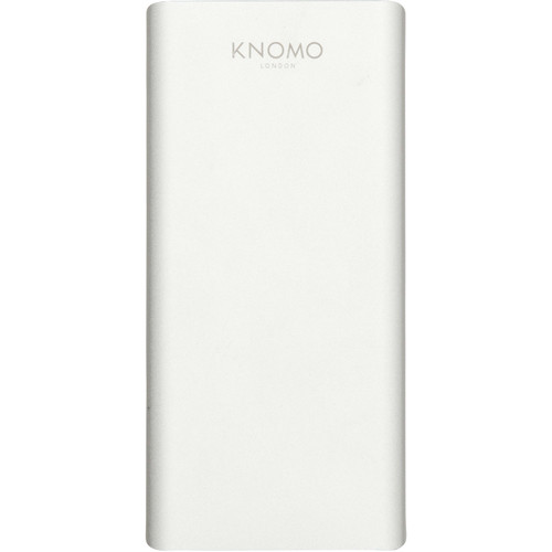 KNOMO USA 10,000mAh Portable Battery Power Pack for Smartphones & Tablets (Silver)
