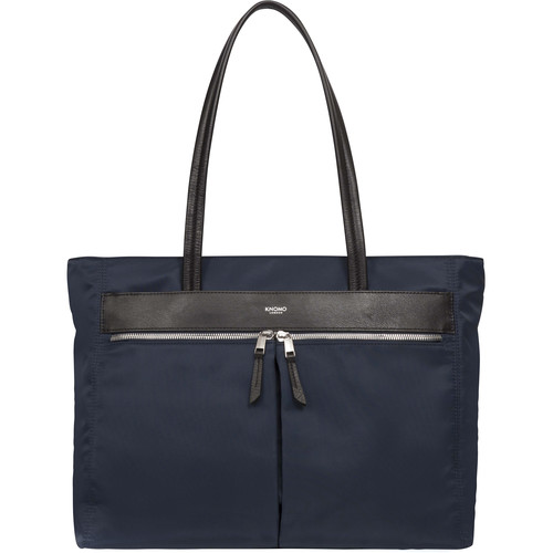 "KNOMO USA Grosvenor Square Top-Zip Tote for 15"" Laptop (Navy)"