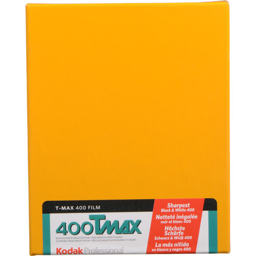 "Kodak Professional T-Max 400 Black and White Negative Film (4 x 5"", 10 Sheets)"