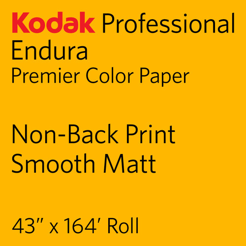 "Kodak PROFESSIONAL ENDURA Premier Color Paper (Non-Back Print, Smooth Matt, 43"" x 164' Roll)"