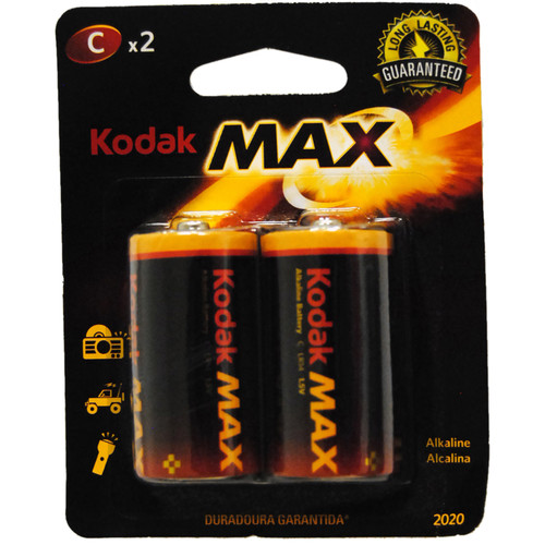 Kodak MAX KC-2 Alkaline C Battery (Blister Pack of 2)