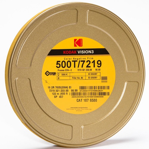 Kodak VISION3 500T Color Negative Film #7219 (16mm, 400' Roll, Double Perf)