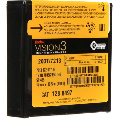 Kodak VISION3 200T Color Negative Film #7213 (16mm, 100' Roll, Single Perf)