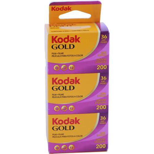 Kodak GOLD 200 Color Negative Film (35mm Roll Film, 36 Exposures, 3-Pack)