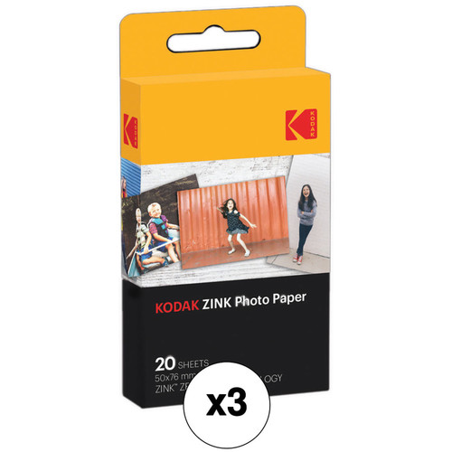 """Kodak 2 x 3"""" ZINK Photo Paper Kit (3-Pack)"""