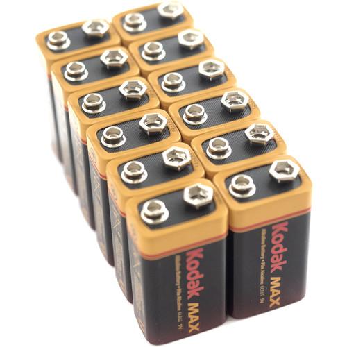 Kodak Max Alkaline 9V Battery (12-Pack)