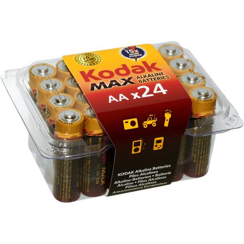 Kodak MAX Alkaline AA Battery (PVC Box of 24)