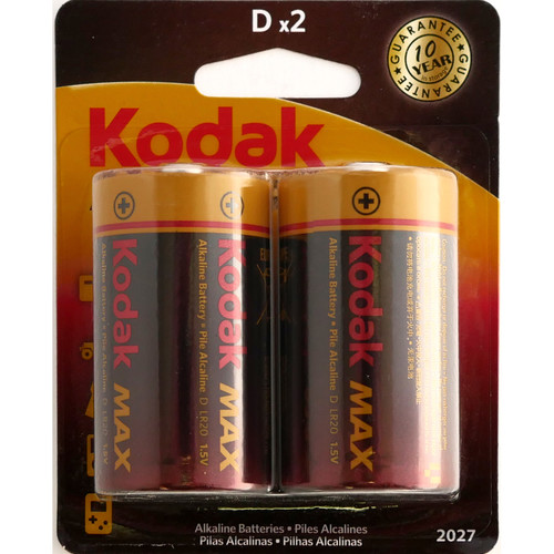 Kodak Max Alkaline D Battery (2-Pack)