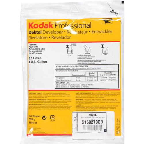 Kodak Dektol Developer (To Make 1 gal, July 2015 Expiration)