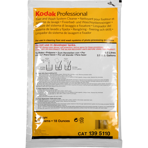 Kodak Fixer/Wash System Cleaner (to Make 2.5 Gal., 2014 Expiration)