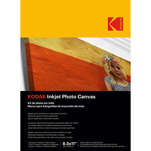 "Kodak 8.5"" x 11"" Photo Canvas Paper with Plastic Stand"