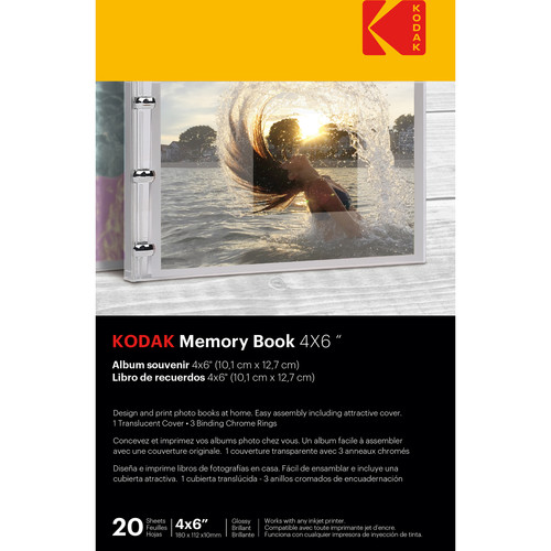 "Kodak Memory Book (4 x 6"", 20 Pages, Translucent Cover)"
