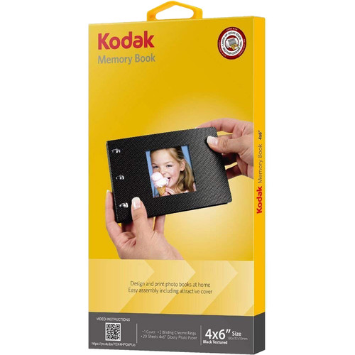 """Kodak Memory Book (4 x 6"""", 20 Pages, Black-Textured Cover)"""