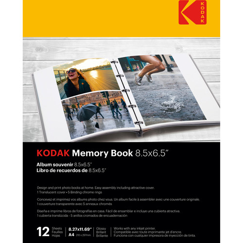 """Kodak Memory Book (8.5 x 6.5"""", 12 Pages, Translucent Cover)"""