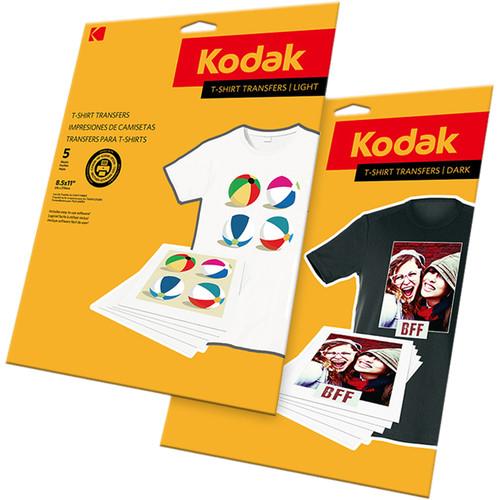 "Kodak T-Shirt Transfers (Dark Fabrics, 8.5 x 11"", 5 Sheets)"