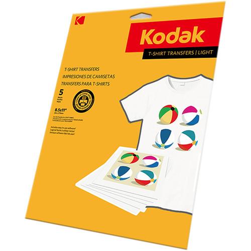 "Kodak T-Shirt Transfers (Light Fabrics, 8.5 x 11"", 5 Sheets)"