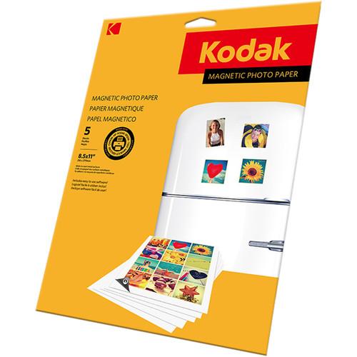 "Kodak Magnetic Photo Paper (8.5 x 11"", 5 Sheets)"