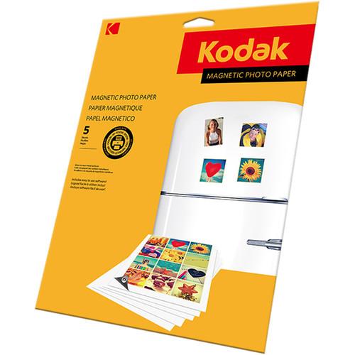 "Kodak Magnetic Photo Paper (4 x 6"", 5 Sheets)"