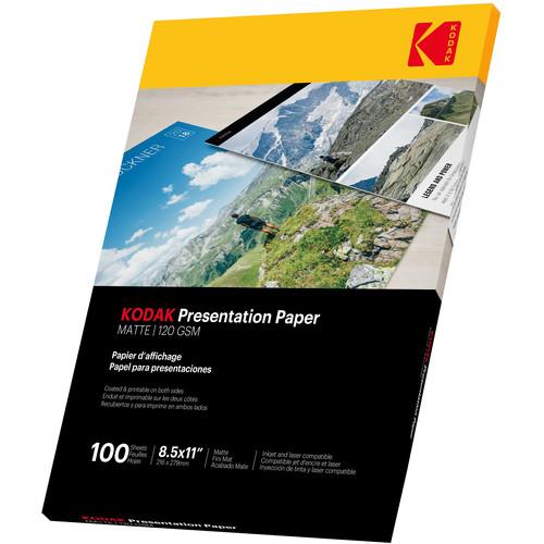 "Kodak Presentation C2S Premium Matte Paper (120 gsm, 8.5 x 11"", 100 Sheets)"