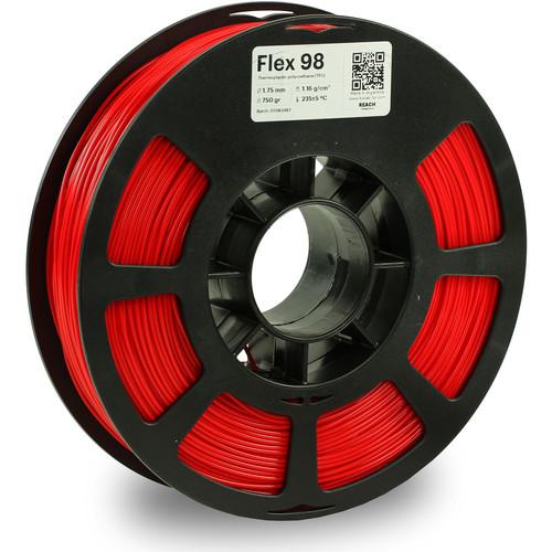 Kodak 1.75mm TPU Flex 98 Filament (750g, Red)