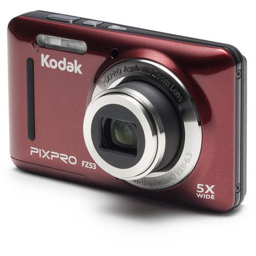Kodak PIXPRO FZ53 Digital Camera (Red)