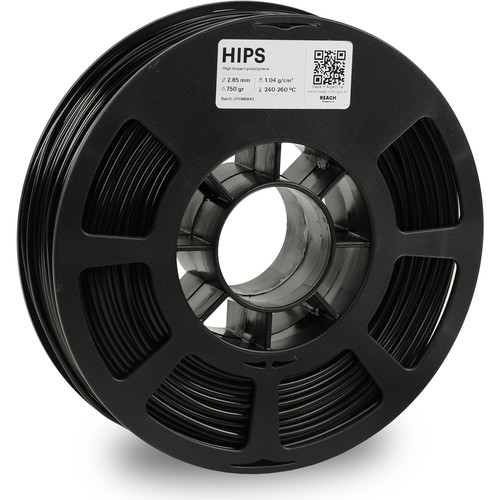Kodak 2.85mm HIPS Filament (750g, Black)