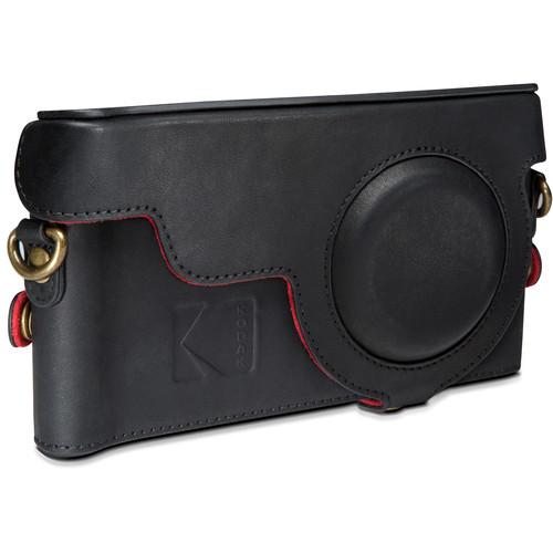 Kodak Leather Camera Case for EKTRA Smartphone (Black/Scarlet)