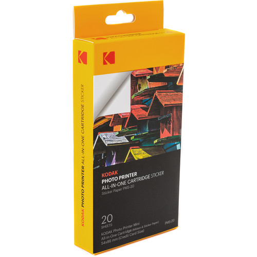 Pms 20 Photo Printer Mini Sticker All In One Cartridge Set by Kodak