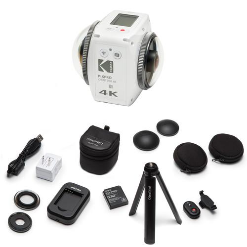 Kodak PIXPRO ORBIT360 4K Action Camera Adventure Pack