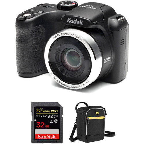 Kodak PIXPRO AZ252 Digital Camera with Accessory Kit