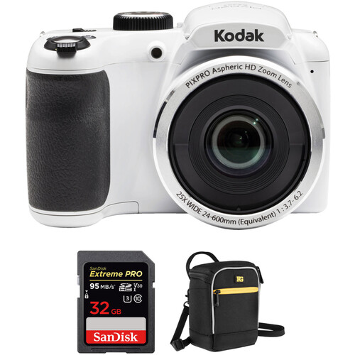Kodak PIXPRO AZ252 Digital Camera Basic Kit (White)
