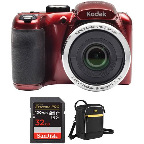 Kodak PIXPRO AZ252 Digital Camera Basic Kit (Red)