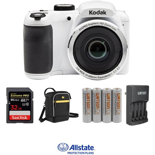 Kodak PIXPRO AZ252 Digital Camera Deluxe Kit (White)