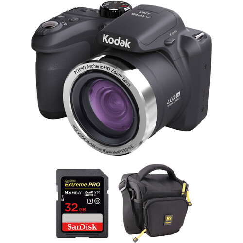 Kodak PIXPRO AZ401 Digital Camera Basic Kit (Black)