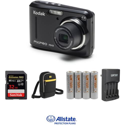 Kodak PIXPRO FZ43 Digital Camera Deluxe Kit (Black)